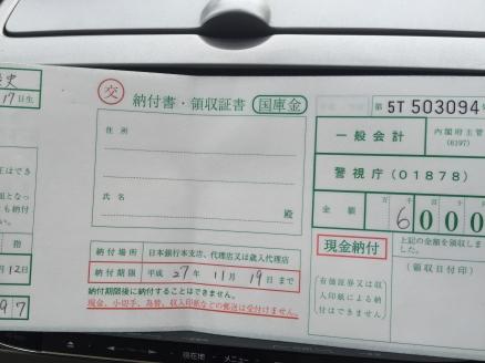 運転中の携帯利用は違反です